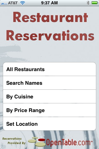RestaurantReservations
