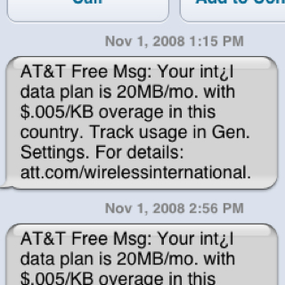 iPhone - AT&T, Apple & international roaming